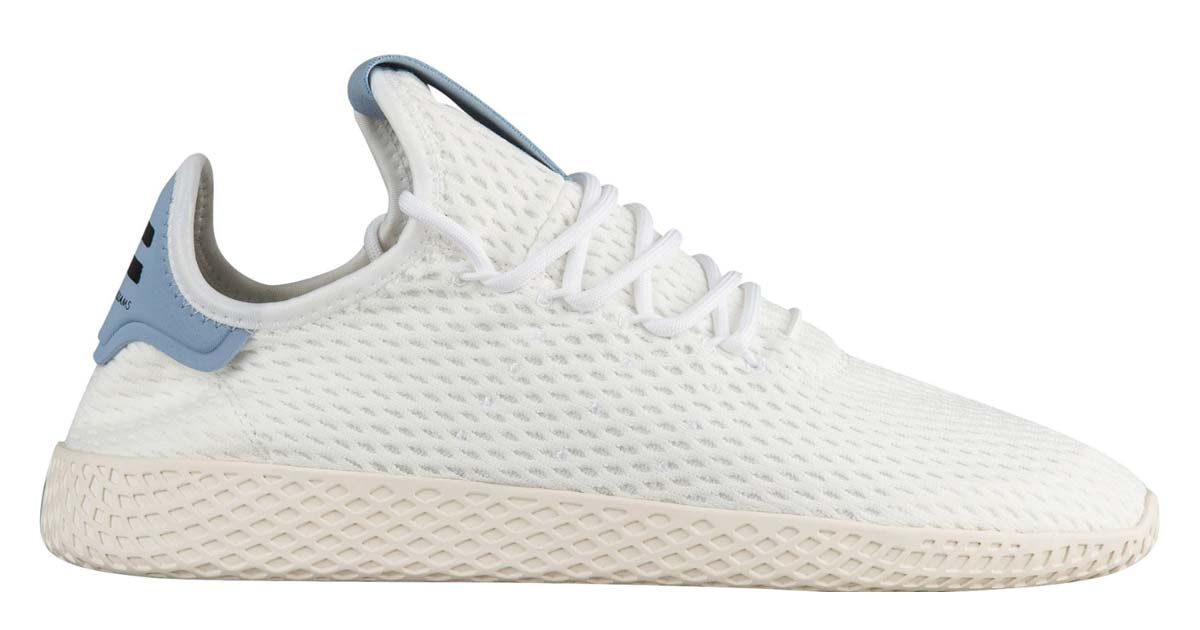 online store 8f7bf 59893 Get These White   Tactile Blue Adidas Pharrell Williams Tennis Hu For Just   70 Shipped While Supplies Last!