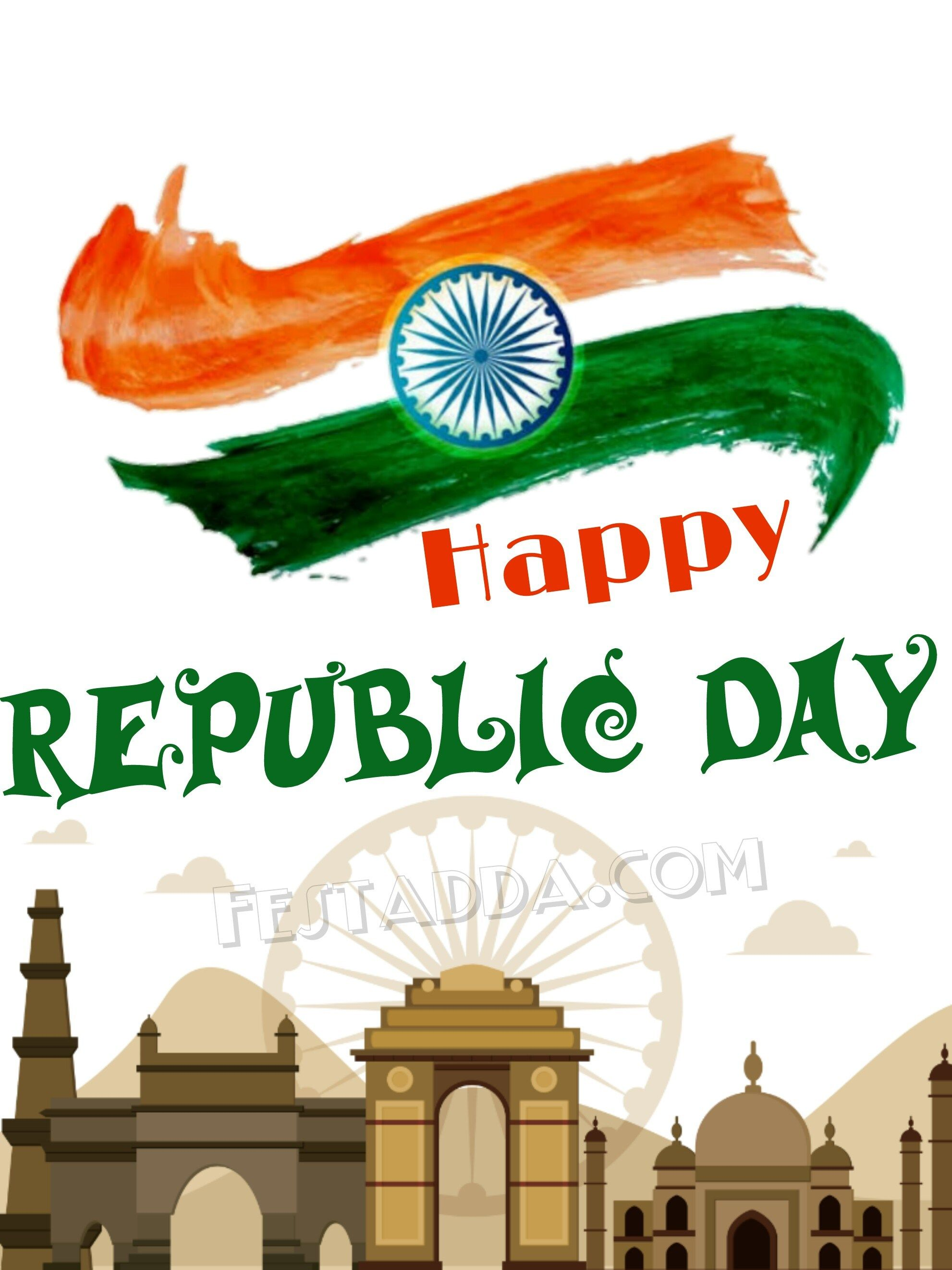Happy Republic Day 2019 Greeting Cards For Whatsapp Status Happy Republic Day Wallpaper Republic Day India Republic Day Happy republic day images hd 2021