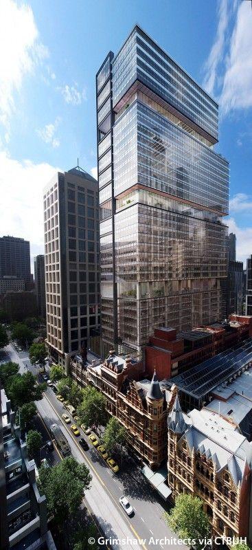 477 Collins Street The Skyscraper Center Skyscraper Architecture Facade Architecture Architecture Visualization