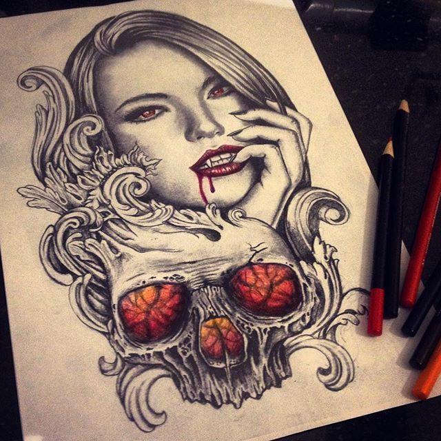 vampire tattoo tattoos pinterest tattoo ideen und ideen. Black Bedroom Furniture Sets. Home Design Ideas