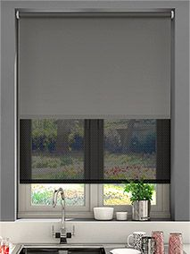 Double Roller Rich Grey Thumbnail Image Double Roller Blinds, Grey Roller  Blinds, Window Blinds