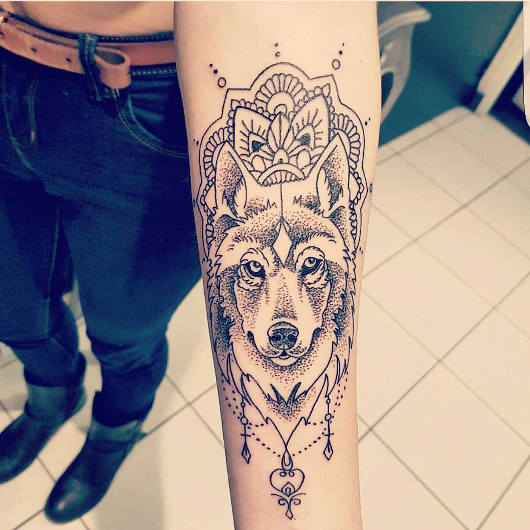 Image Result For Wolf Mandala Wolf Tattoos For Women Wolf Tattoos Mandala Elephant Tattoo