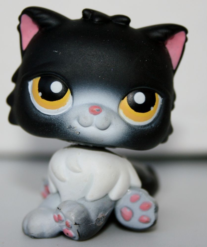 Littlest Pet Shop Cat Persian Rare 380 Free Accessory Authentic Lps