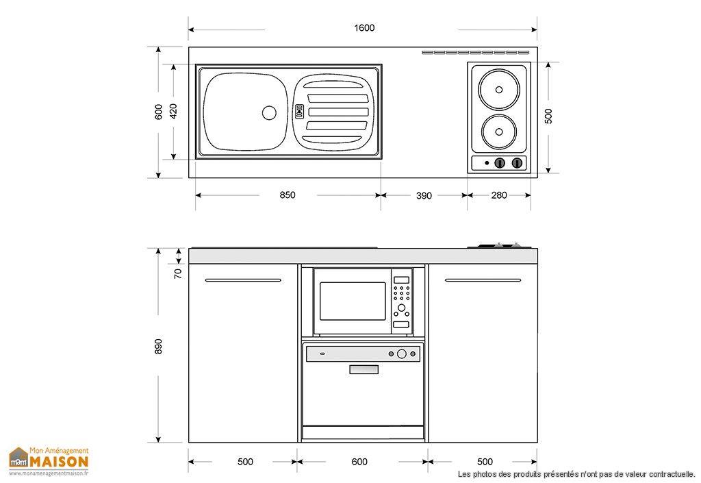 mini cuisine avec frigo l v micro ondes et induction mpgsm 160 guides astuces bons plans. Black Bedroom Furniture Sets. Home Design Ideas