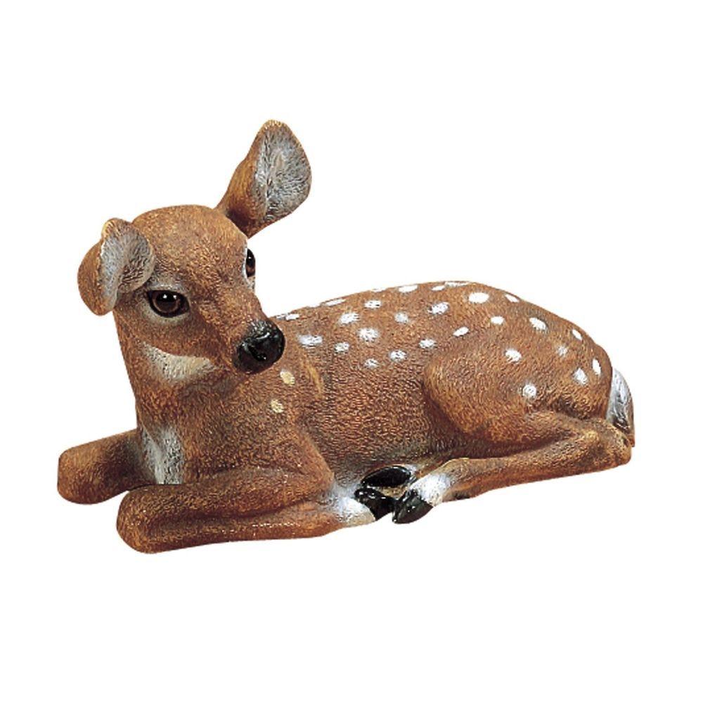 Baby Deer Statue Lawn Ornament Garden Decor Outdoor