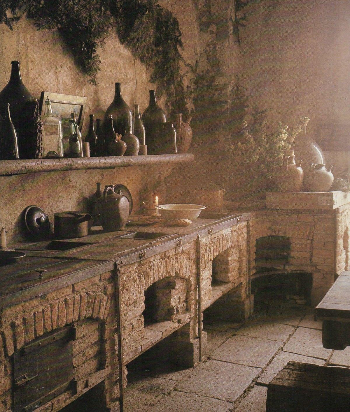 Yet another dream kitchen! *adore* ~Splendor   Medieval nel 2018 ...