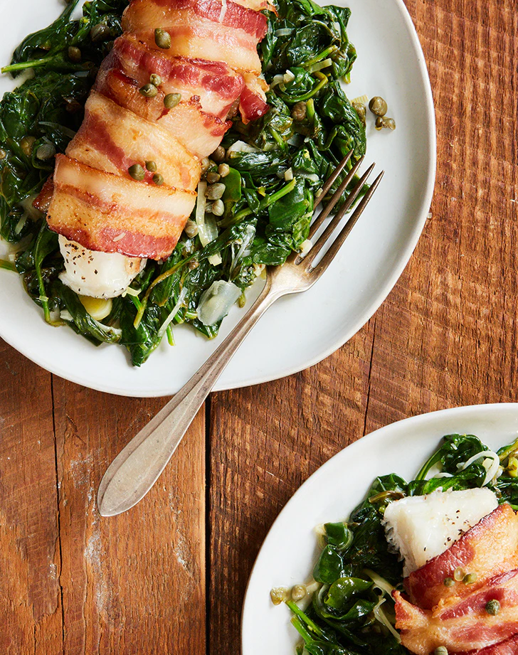 Keto Bacon-Wrapped Cod Recipe - Keto fish meals