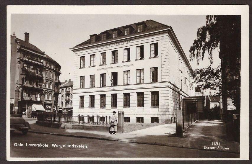 Oslo Lærerskolen. Wergelandsveien. Utg S Gran.