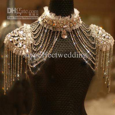 517ca6db1 Wholesale Bridal Jacket - Buy New Style Epaulet Jacket Crystal Jewelry  Necklace Jacket Wedding Bridal Dresses
