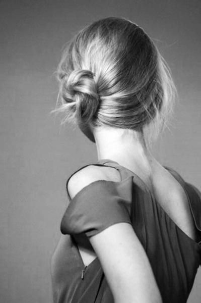 Simple and to the side. Could be good Bridesmaid updo.