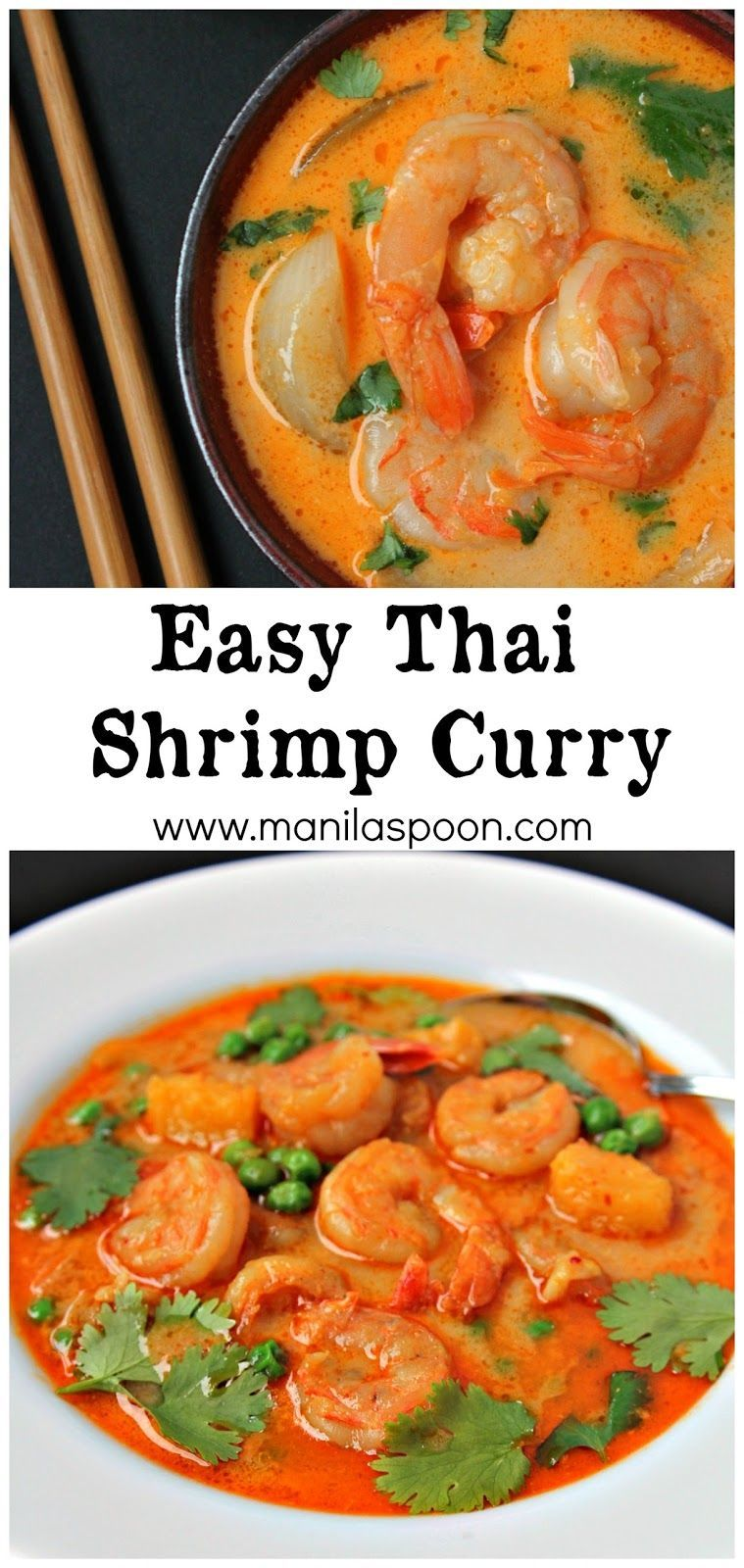 quick and easy way to make the most delicious Thai Shrimp Curry. Spicy deliciousness guaranteed! Freeze if there are left-overs - if there's any! :)
