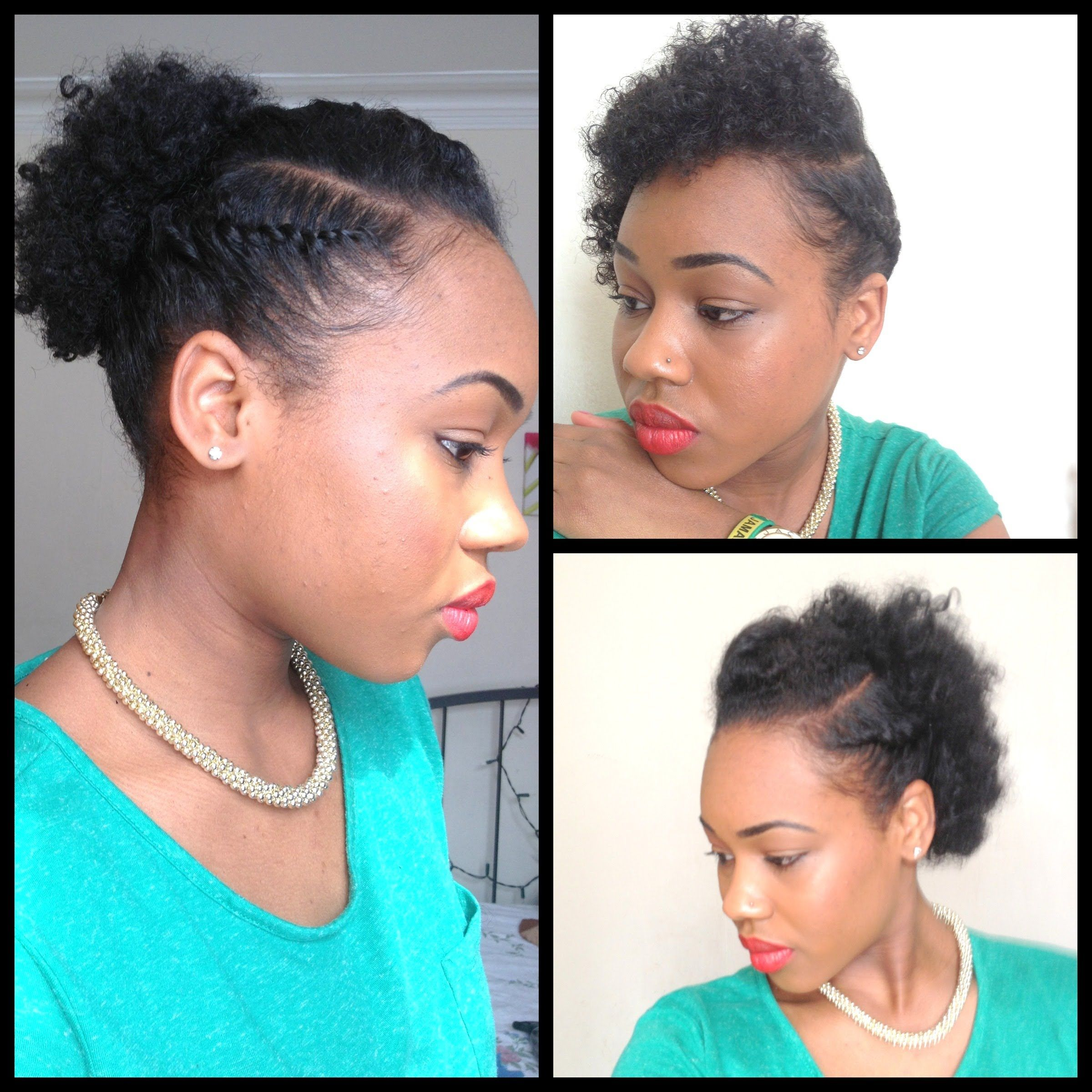 3 Quick Easy Style For Short Natural Hair Wash And Go 5th Day Styles Natural Hair Styles Hair Styles Short Natural Hair Styles