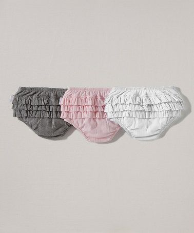 Look what I found on #zulily! Blossom, Cloud & Storm Ribbed Organic Diaper Cover Set - Infant #zulilyfinds