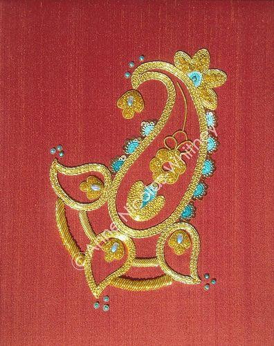 Goldwork for RSN certificat by Anne Nicolas-Whitney, via Flickr