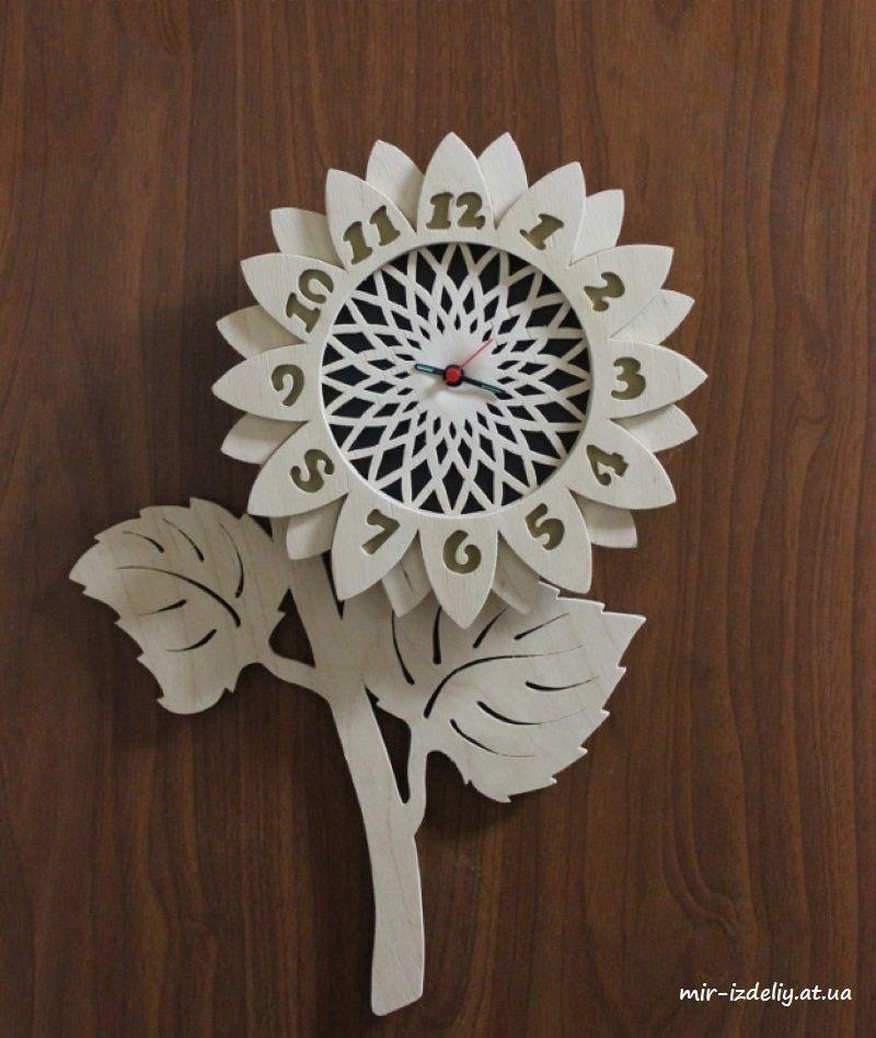 Decorative Wall Clock Flower Design Round 2018 CDR File