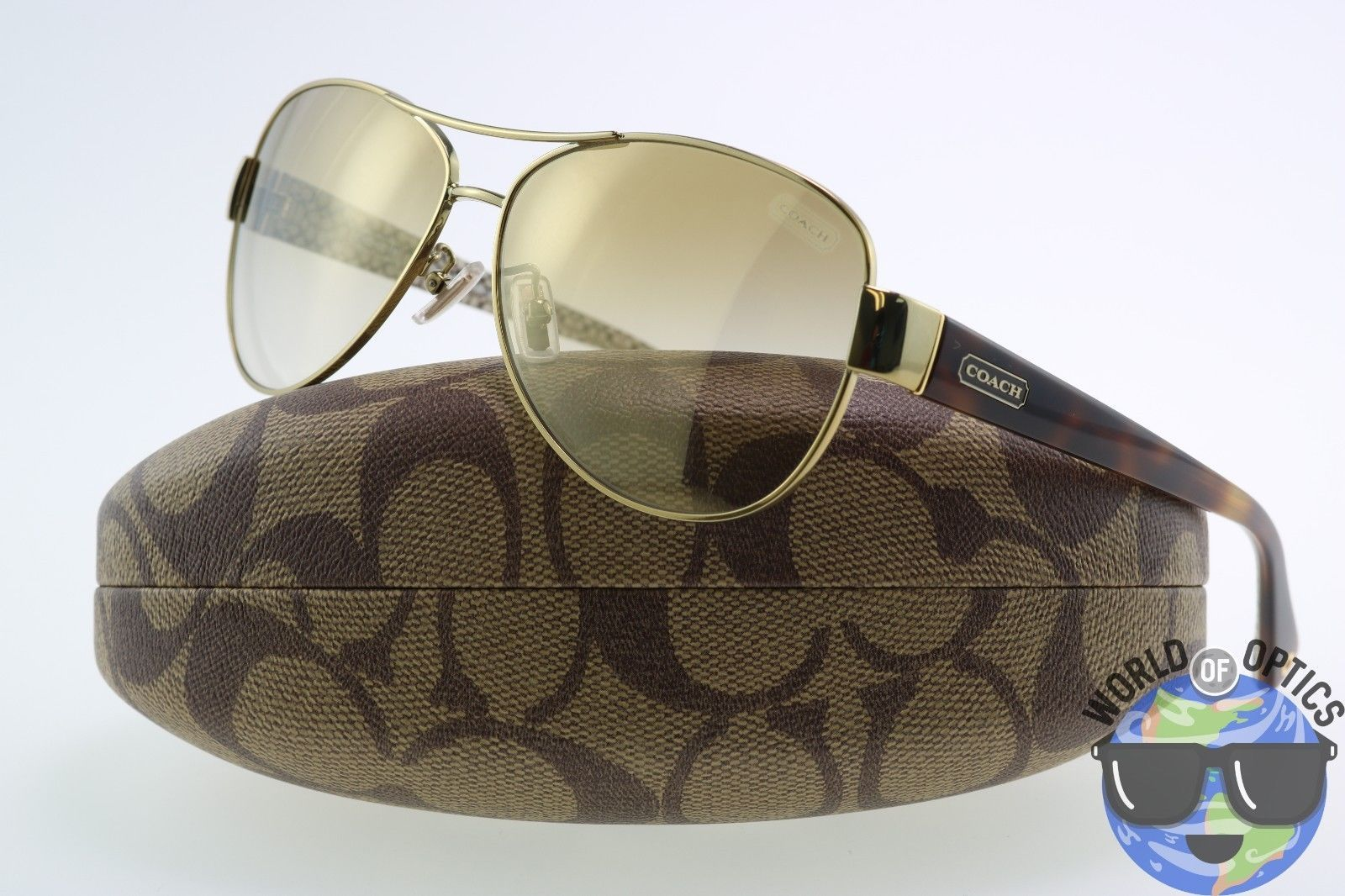 313d631238 ... discount code for coach sunglasses hc7003 91766e l012 kristina gold  tortoise w gold gradient a4dcd 02002