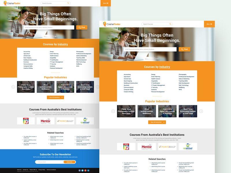 Course Finder Web Design Web Development Design Web Design Web Design User Interface