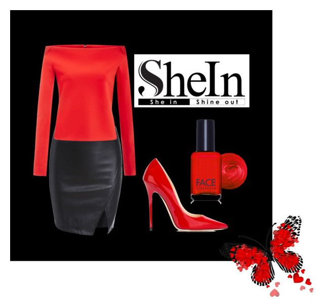 """""""Shein"""" by xxxdajixxx ❤ liked on Polyvore featuring Jimmy Choo, Zac Posen and FACE Stockholm"""