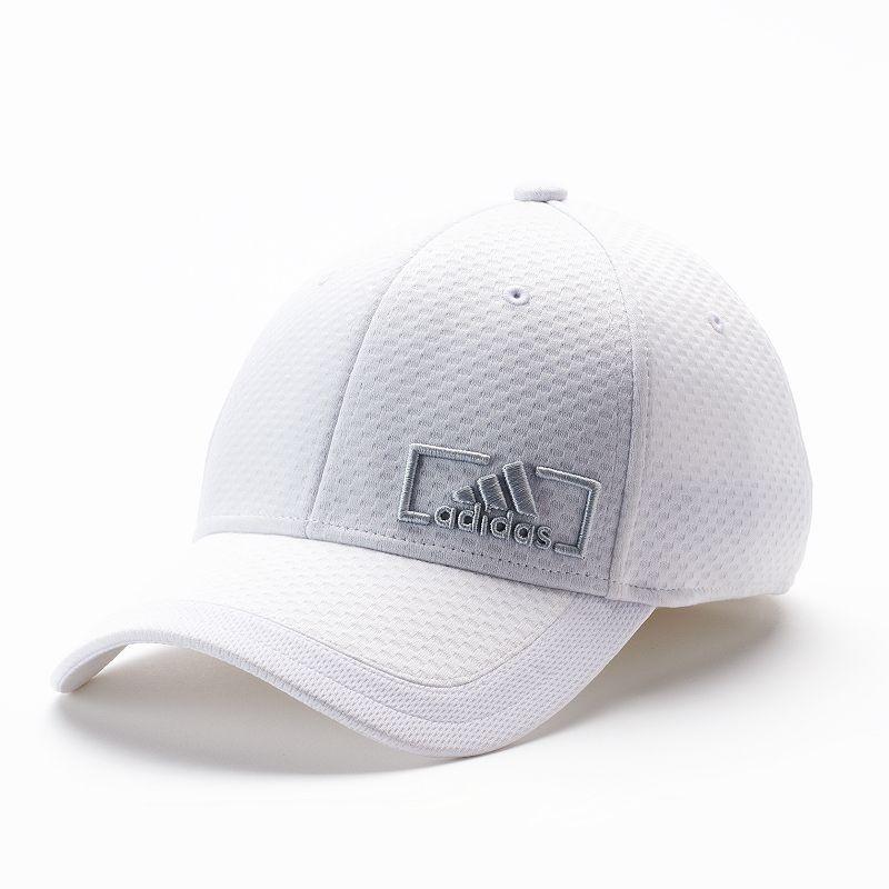 c6acdbec ... denmark adult adidas amplifier stretch fit cap mens size s m white  6c0cc 99cfe