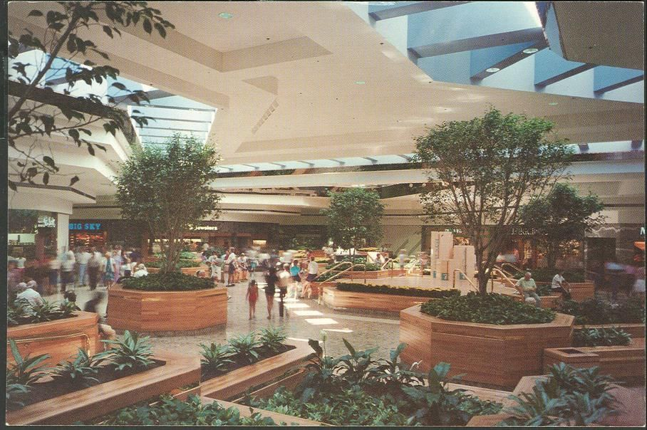 lakeview square mall  battle creek  michigan  1983 blue skylights mysteriously capture spiritual