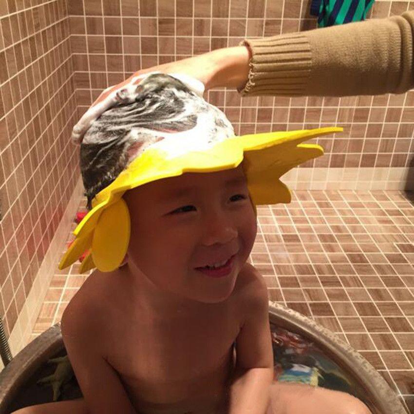 FGHGF Baby Kids Shower Cap Safe Shampoo Bathing Bath Protect Soft ...