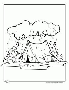 Rainy Camp Coloring Page Camping Coloring Pages Coloring Pages Camping Coloring Pages Rainy Day Activities