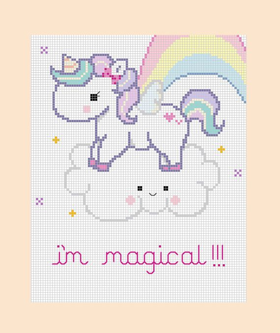 Be Magical Unicorn Cross Stitch Pattern Pdf Pattern Etsy Punto De Cruz Bordados En Punto Cruz Punto De Cruz Patrones