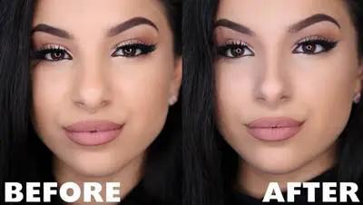 كونتور الانف الكبير والطويل والمدبب بالصور والشرح التفصيلي Nose Makeup Nose Contouring Contour Makeup