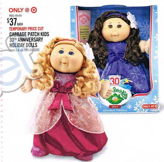 Cabbage Patch Kids 30th Anniversary Holiday Dolls At Target Toy Books 2013 Patch Kids Cabbage Patch Kids Cabbage Patch