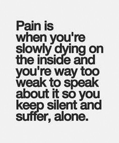 Dying Quotes: Slowly Dying On The Inside - Inspirationa Quotes