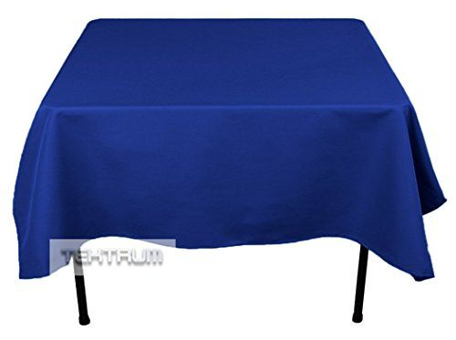 """TEKTRUM 70 X 70 INCH 70""""X70"""" SQUARE POLYESTER TABLECLOTH - THICK/HEAVY DUTY/DURABLE FABRIC - BLUE COLOR http://kitchenammo.com/store/kitchen/tektrum-70-x-70-inch-70x70-square-polyester-tablecloth-thickheavy-dutydurable-fabric-blue-color/"""