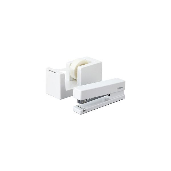 White Poppin Tape Dispenser Stapler 14 Liked On Polyvore