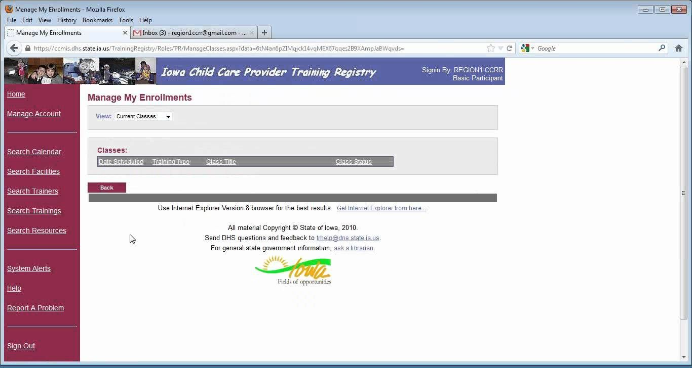 Part 2 Iowa DHS Child Care Provider Training Registry