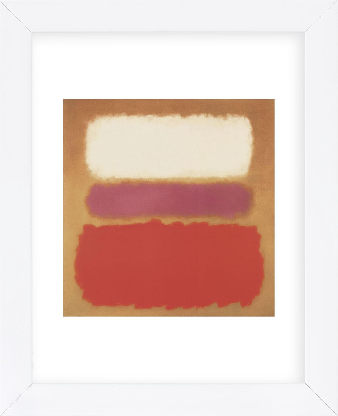 Mcgaw Graphics Mark Rothko White Cloud Over Purple, 1957