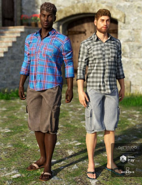 Boardwalk Casual Outfit Textures   Daz Studio: Clothing for