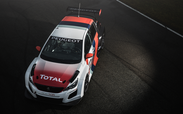 Download wallpapers Peugeot 308 TCR, 4k, 2018 cars, racing cars ...