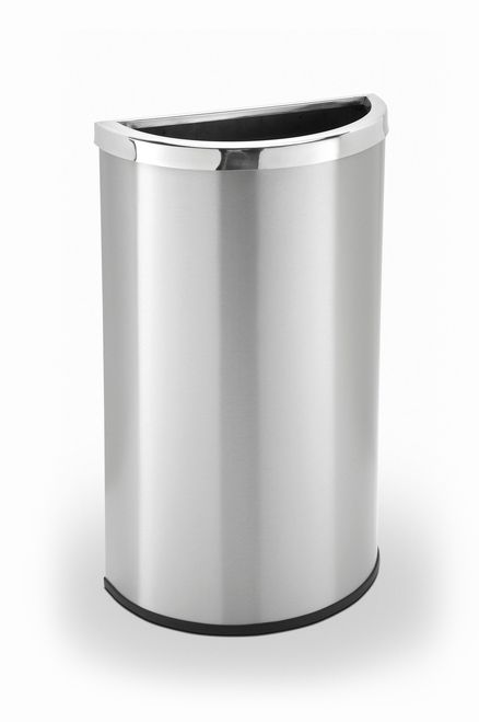 15 Gallon Half Round Stainless Steel Trash Can Garbage 783929 Products Pinterest And