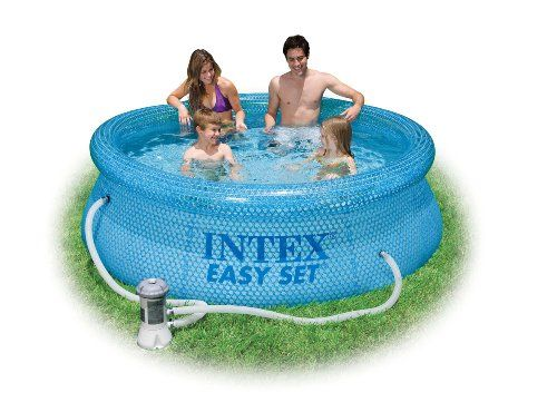 Intex 54911eg 8 Foot By 30 Inch Clearview Easy Set Pool With 110 120 Volt Filter Pump Easy Set Pools Intex Pool