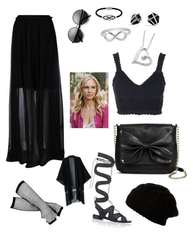 """""""Funeral- Caroline Forbes"""" by bibicavictoria ❤ liked on Polyvore featuring Carven, Topshop, Nicholas Kirkwood, Sam & Libby, Jewel Exclusive and David Yurman"""