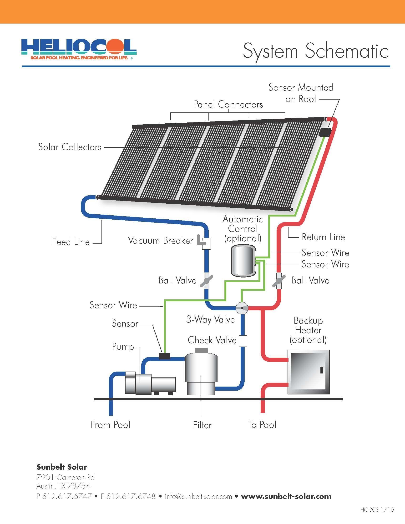 Heliocol Schematic Solar Pool Heating Solar Pool Solar