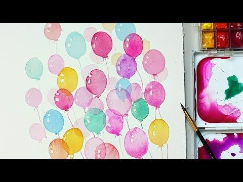 9 How To Paint Balloons With Watercolors For Beginners Easy And