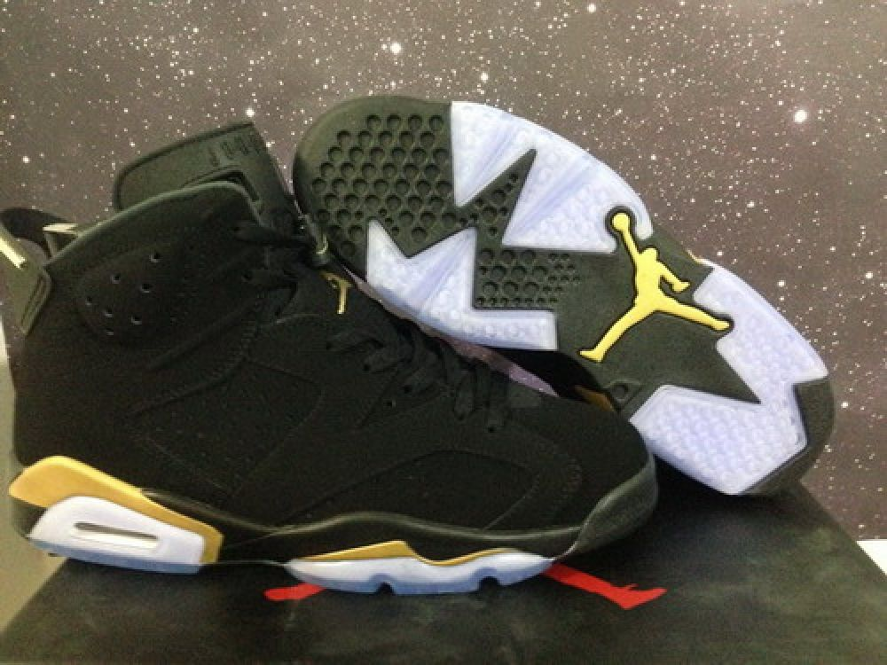 wholesale dealer 2f72d 67624 Authentic Air Jordan 6 Retro Black Gold DMP  169.00