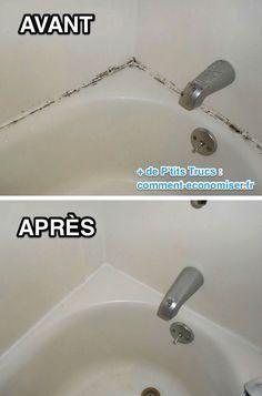 l'astuce incroyable pour enlever la moisissure sur les joints de ... - Changer Joint Salle De Bain Moisi