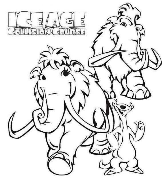 Manny From Ice Age Coloring Page Coloring Pages Ice Age Zoo Coloring Pages
