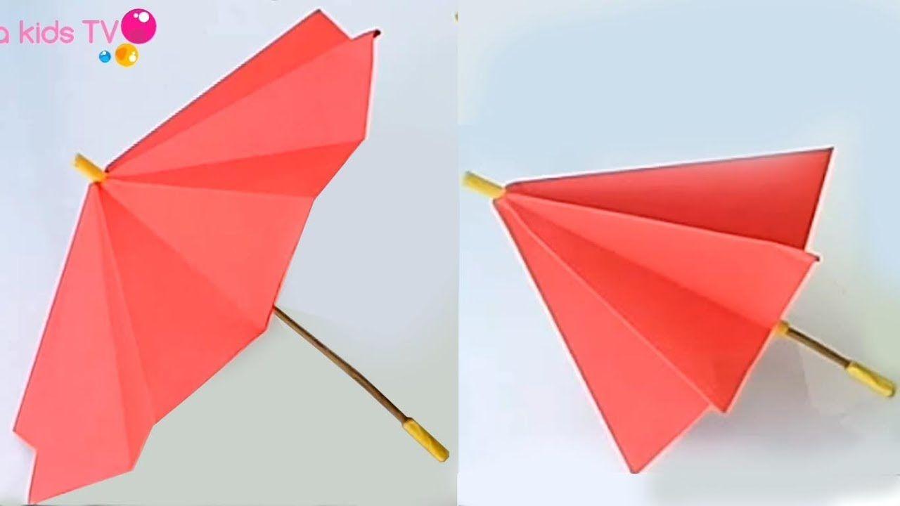 How To Make Paper Umbrella Paper Umbrellas Umbrella Craft Origami Umbrella