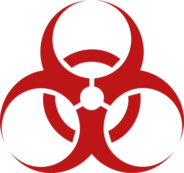 Biohazard Symbol Red Biohazard Clip Art Hazmat Pinterest