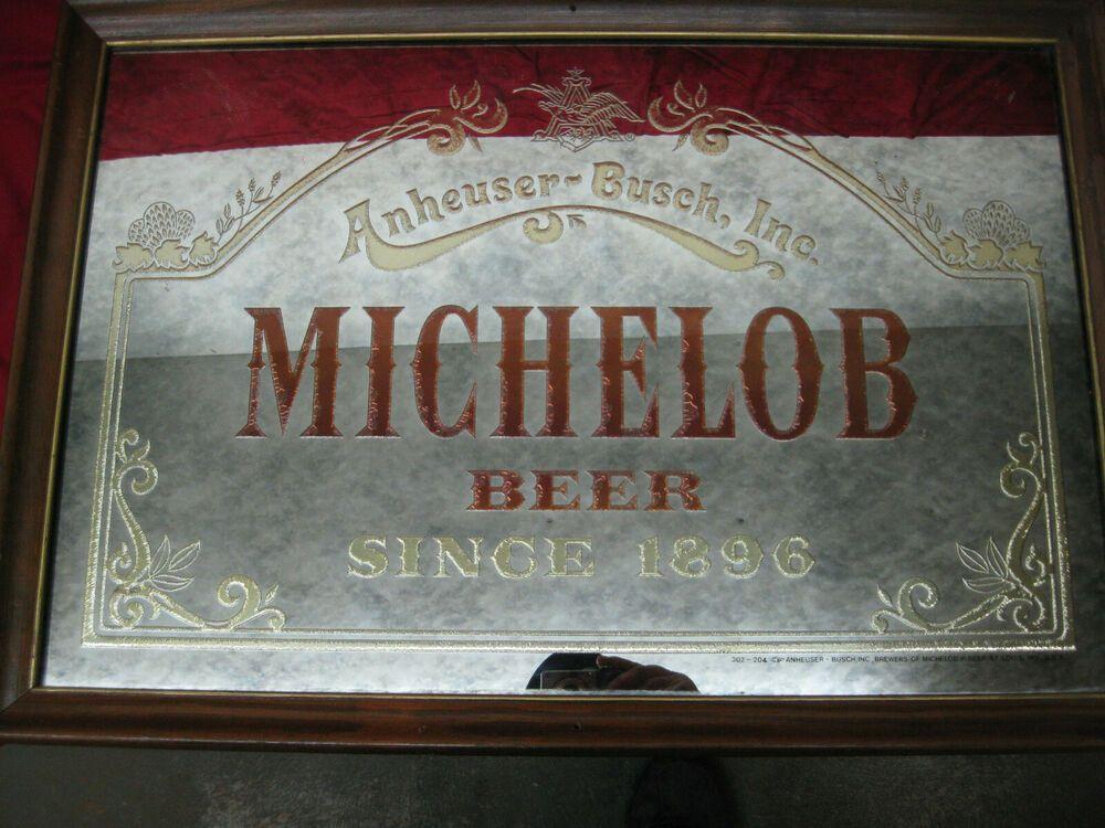 VINTAGE MICHELOB BEER PUB BAR WINE GLASS ANHEUSER BUSCH