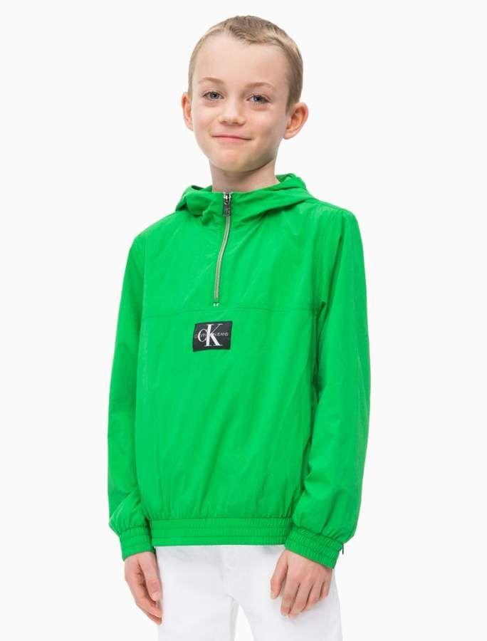 Jungen Nylon Monogramm Logo Anorak + Gürteltasche | Calvin Klein