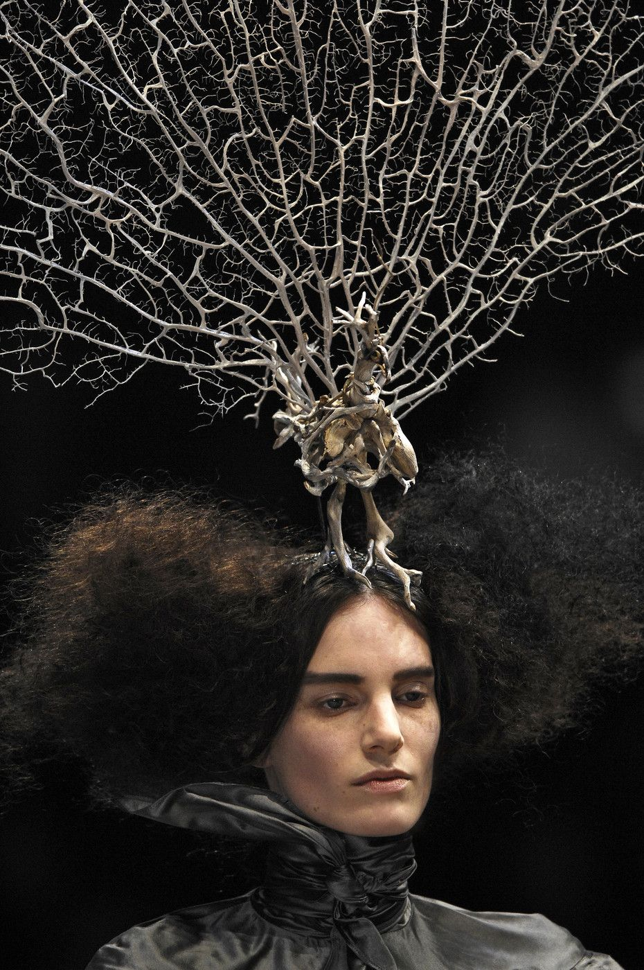Alexander McQueen  Paris F W 2008  The Girl Who lived in the Tree   Collection. Philip Treacy hair piece. ee3d3ec4893