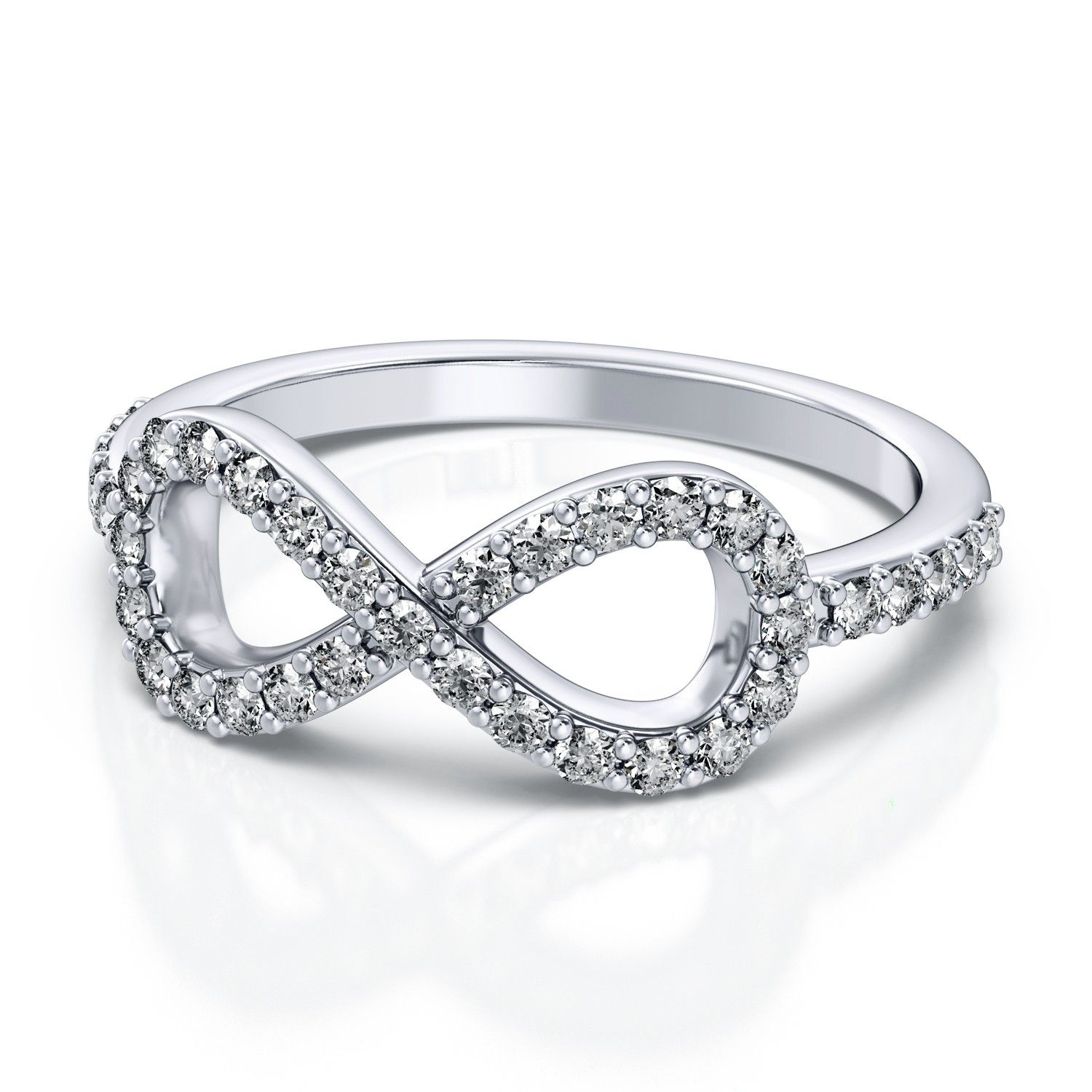 39ctw Infinite Love Fashion Diamond Ring in 18k White Gold VS G H